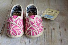 Zebra Print Baby TOMS Shoes