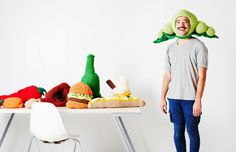 Phil Ferguson aka Chili Philly with his cult crochet hats. Photo – Annette O'Brien for The Design Files. Styling – Nat Turnbull.