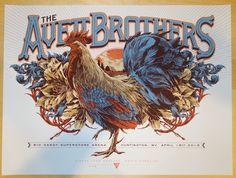2015 The Avett Brothers - Huntington Silkscreen Concert Poster by Ken Taylor