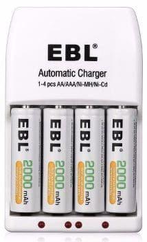 Ebl Aa 2000mah Ni Mh Rechargeable Batteries 4 Packs Recharge Rechargeable Batteries Batteries