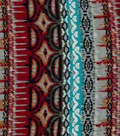 Southwest Apparel Fabric- Ethnic Knit Turquoise Orange Ray Spandex Jer