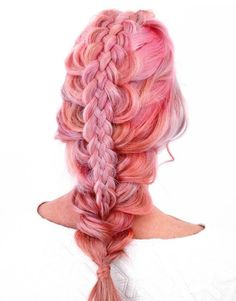 Pastel Pink Braided Hairstyle