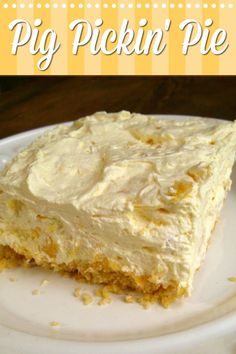 Pig Pickin' Pie - A refreshing and easy pie made with crushed pineapple like the frosting of the classic Pig Pickin' Cake. Pig Pickin' Pie - A refreshing and easy pie made with crushed pineapple like the frosting of the classic Pig Pickin' Cake. Food Cakes, Cupcake Cakes, Cupcakes, Easy Pie Recipes, Sweet Recipes, Cookbook Recipes, Cream Recipes, Healthy Recipes, Köstliche Desserts