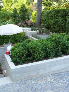 gartendesign für einfamilienhaus in berlin hochbeet aus beton, Garten und erstellen