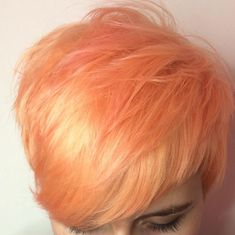 """""""Blorange"""" Is The Latest Hair Color Trend To Sweep Instagram — & It's Even Better Than Rosé #refinery29  http://www.refinery29.com/2017/01/136926/blorange-hair-color-trend#slide-9  Pixie cuts look rad with the glossy color choice...."""