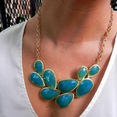 Oversized gem necklace