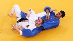Gemma Howell of Great Britain competes with Gevrise Emane of France