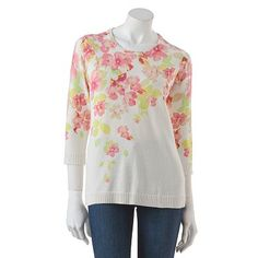 Croft and Barrow Floral Sweater