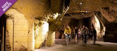 A visite by bike to the the caves of Bouvet-Ladubay ending with a class of fizz. What could be better!