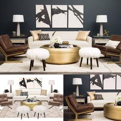 Online Interior Design Firm Worked Up A Stunning Midcentury Inspired Concept Bottom Left Using Our Products And We Brought It To Life Lovely Job Havenly
