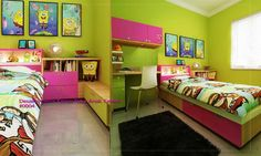 Desain Interior Kamar Tidur Anak Cewek