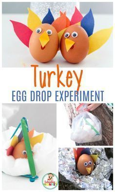 Smashing Turkeys: the New Egg Drop Experiment that will Delight Kids Thanksgiving is a blast with a turkey egg drop experiment. The perfect Thanksgiving STEM activity! Thanksgiving activities for kids have never been so fun! Thanksgiving Activities For Kids, Science Activities For Kids, Thanksgiving Parties, Holiday Activities, Thanksgiving Crafts, Preschool Activities, Preschool Boards, Thanksgiving Cookies, Science Crafts