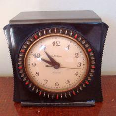 ANTIQUE Vintage ART DECO 1930's TELECHRON Clock HOUSEHOLD Timer BAKELITE CASE NR