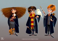 Ilustraciones: Hermione, Harry and Ron :)