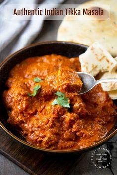 Authentic Indian Chicken Tikka Masala – Happily Unprocessed – Famous Last Words Chicken Tikka Masala, Indian Chicken Curry, Lamb Tikka Masala, Indian Curry, Tika Massala, Comida India, Indian Cookbook, Tandoori Masala, India Food