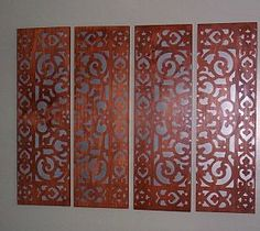 The long cheap mirrors with painted design on top- awesome!