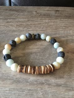 Excited to share the latest addition to my #etsy shop: Coconut + Amazonite Bracelet, Aromatherapy Bracelet, Lava Stone Bracelet, Essential oil Bracelet, Diffuser Bracelet
