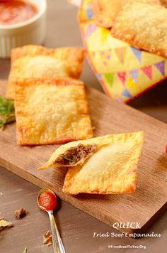 Quick Fried Beef Empanadas (Pastel de Carne Rápido)