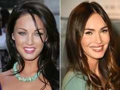 These 13 Celebrities Show How Eyebrows Can Change Your Entire Face - Megan Fox… Megan Fox Eyebrows, Blonde Eyebrows, Tweezing Eyebrows, Thin Eyebrows, How To Draw Eyebrows, Permanent Makeup Eyebrows, Microblading Eyebrows, Perfect Eyebrows, Megan Fox Makeup