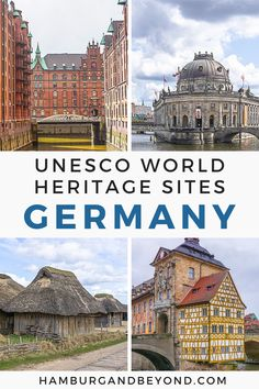 With 46 different sites, these are some of the must-see UNESCO World Heritage Site in Germany - from Berlin to Hamburg to iconic castles! Road Trip Europe, Europe Travel Guide, Europe Destinations, Travel Guides, European Travel Tips, European Vacation, Europe Holidays, Germany Travel, World Heritage Sites