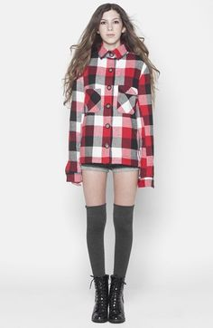 4ecf427a9e28 ISABELLA ROSE TAYLOR Buffalo Plaid Flannel Jacket (Juniors) available at   Nordstrom Flannel Jacket