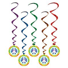 Peace Sign Danglers, 5ct, $3.99