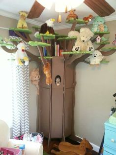 3D tree shelf conceptualized and built by one of my FB friend's amazing husband! I can't wait till we get to do these things.