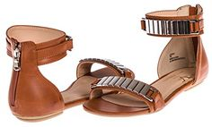 V1969 Italia Womens Designer Shoes Leora Sandal by VERSACE 1969 ABBIGLIAMENTO SPORTIVO SRL Chestnut Size 8 More Colors  Size Available ** Read more reviews of the product by visiting the link on the image.