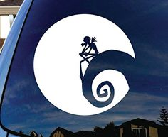 "Jack Nightmare Before Christmas Moon Car Window Vinyl Decal Sticker 5"" Wide SoCoolDesign http://www.amazon.com/dp/B00ERFGYGI/ref=cm_sw_r_pi_dp_drEdxb000DP0S"