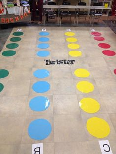Test Review Twister! Students spin a wheel indicating which hand or foot they will place on the game board. Then they will answer the multiple choice question by putting the hand or foot on the correct color. Adapted Pe, Piano Teaching, Multiple Choice, Spin, Teaching Ideas, Board Games, Students, Teacher, Learning