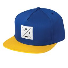 The Quiet Life - Snapback Cap Blue/Yellow #tql #thequietlife