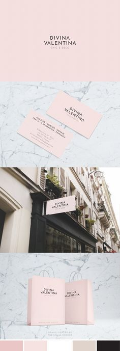 Brand design for the elegant boutique Divina Valentina by The Visual Corner studio #BoutiqueBranding #logodesign #branddesign