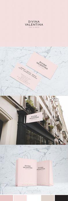 Brand design for the elegant boutique Divina Valentina by The Visual Corner studio #BoutiqueBranding #logodesign #branddesign