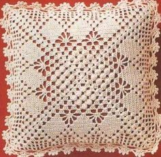 19 Ideas For Crochet Pillow Case Beautiful Crochet Stitches Patterns, Crochet Chart, Filet Crochet, Irish Crochet, Crochet Motif, Crochet Designs, Crochet Doilies, Crochet Pillow Cases, Crochet Cushion Cover