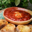 Italian Food Forever » Warm Goat Cheese In Tomato Sauce