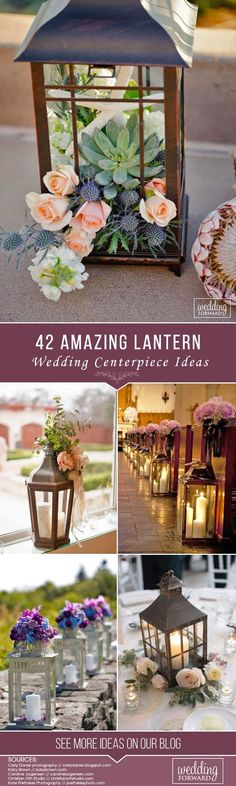 Thinking how to decorate your centerpiece? We propose to consider lantern wedding centerpiece ideas. Lanterns will add cosiness to your wedding arrangement. Put candles or beautiful flowers inside and see how your centerpiece become gorgeous!