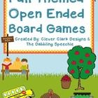 Fall Themed Open Ended Board Games Your kids will love playing these open ended game boards while practicing their speech or language targets.  The...