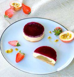 Cheesecake Céleste de Pierre Hermé: fraises, rhubarbe et passion