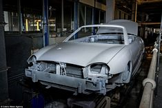 An MG TF can be seen here on the production line. Production at the Longbridge plant in Birmingham was massively scaled back after MG Rover collapsed in 2005 - meaning that the factory has been almost entirely unused over the past decade. The owners of MG