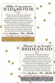 Bridesmaid Maid of Honor Gift Will You Be My Proposal Ask Flowers Stripes Wine Champagne Bottle Label Wedding Idea Decor Invitation Asking Bridesmaids, Bridesmaids And Groomsmen, Wedding Bridesmaids, Bridesmaid Gifts, Bridesmaid Letter, Bridesmaid Dresses, Trendy Wedding, Our Wedding, Dream Wedding