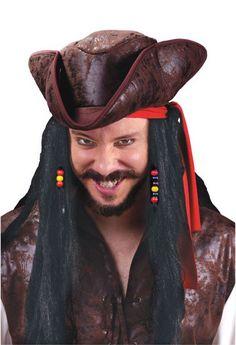 Wig 30 inch carribean pirate. Costumi Di Halloween Da Pirata 93c94e352e8f