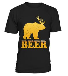 Bear Deer Beer Funny T shirt Drinking Beer T Shirt for Beer Lover