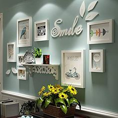 32 Amazing Living Room Wall Decor Ideas That You Should Copy - Wall decor is an all important aspect of interior decoration. The walls in a house are expanses, empty canvasses that be worked on to completely chang. Family Wall Decor, Room Wall Decor, Diy Wall Decor, Bedroom Wall, Living Room Decor, Diy Home Decor, Bedroom Decor, Wall Decorations, Frame Wall Decor