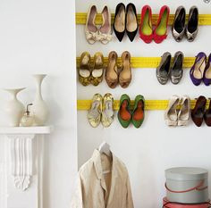 Creative Shoe Storage // Live Simply by Annie