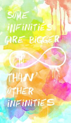 John Green: Some infinities are bigger than other infinities. Star Quotes, Book Quotes, Me Quotes, Qoutes, John Green Quotes, John Green Books, Heaven Quotes, Sad Movies, Say That Again