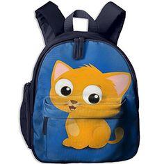 9c72a5f05e2a Cartoon Cat Fashion And Colorful Kids Kindergarten Backpack