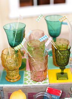 Vintage colored glassware!
