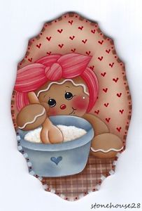 This is a hand painted fridge magnet featuring a gingerbread girl doing some baking. It measures approximately high x wide and is cut from thick mdf wood. Christmas Tag, Diy Christmas Gifts, Christmas Ornaments, Christmas Trees, Painted Fridge, Retro Fridge, Arte Country, Ginger Cookies, Alice