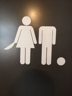Bathroom Signs Holding Hands polish bathroom sign | figures | pinterest