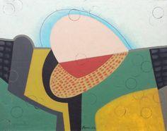 """Saatchi Art Artist Victor Popov; Painting, """"Spiel auf Grün"""" #art"""